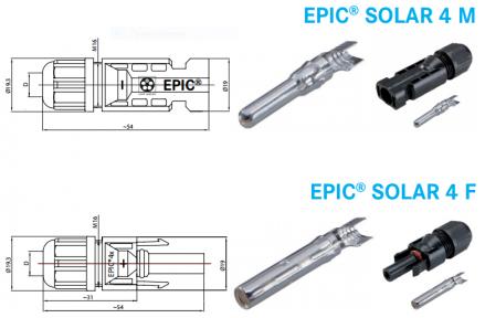 Штекерные соединители для фотогальванических модулей EPIC® SOLAR 4 (M+F)