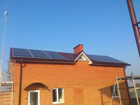 Крышная сетевая солнечная станция 10 кВт, Запорожская обл.