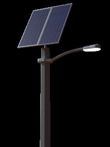 Автономный уличный LED-фонарь 50 Вт, 2 солнечные панели 610 Вт, с гелевым аккумулятором (без столба)