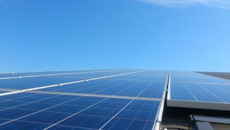 Крышная сетевая солнечная станция, мощностью 22 кВт. г. Запорожье