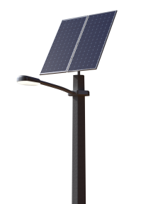 Автономный уличный LED-фонарь 60 Вт, 2 солнечные панели 610 Вт, гелевый аккумулятор (без столба)